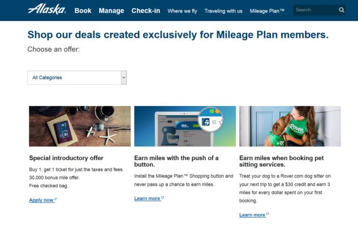 Alaska Airlines Mileage Plan details