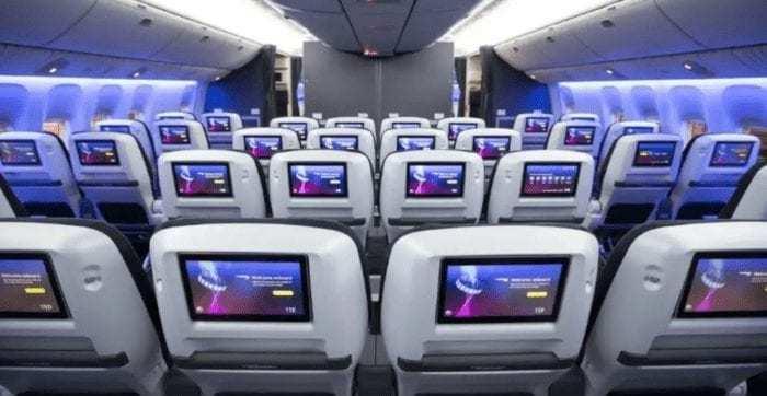BA new world traveller plus cabin