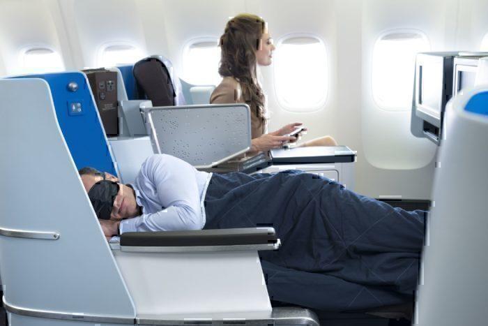 KLM sleeping