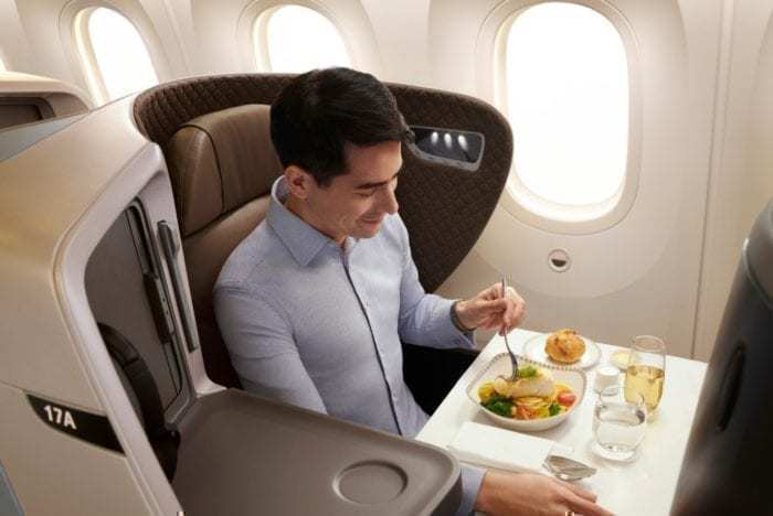 SIA Business Class Seat 787-10