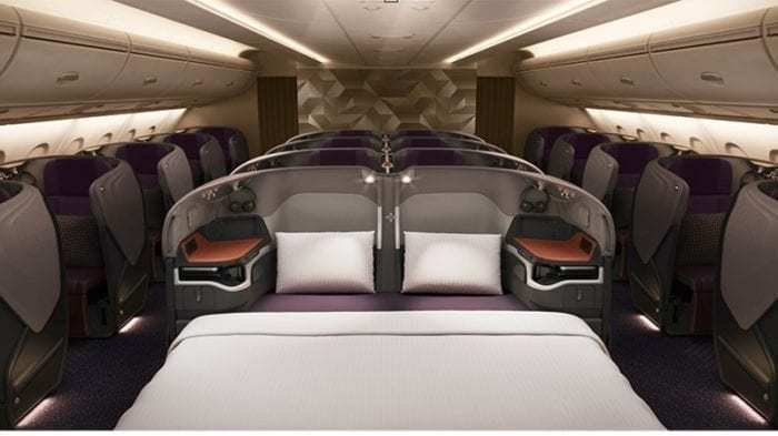A Bird Hitches A Free Ride In Singapore Airlines Business Class