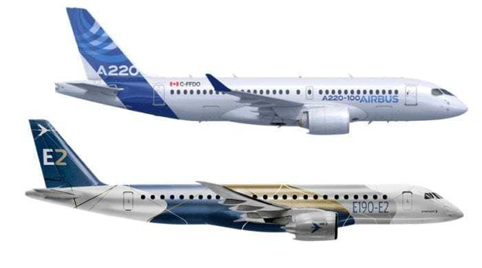 The Embraer E190-E2 vs Airbus A220 - What Plane Is Best? - Simple Flying