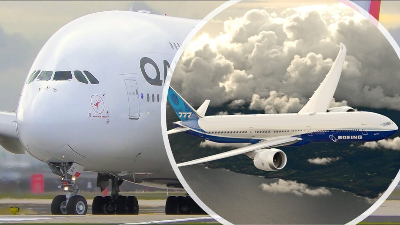 The Boeing 777X vs The Airbus A380 - What Plane Wins