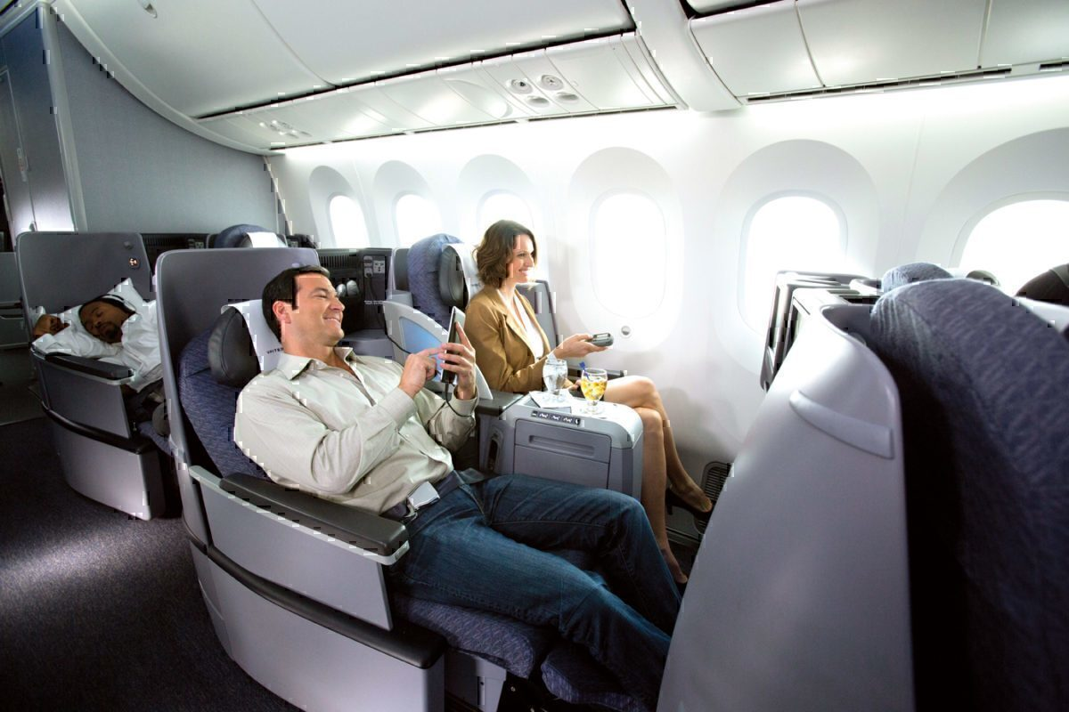 United 767 business class