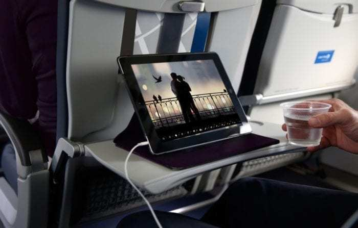 United Airlines Personal Device Entertainment