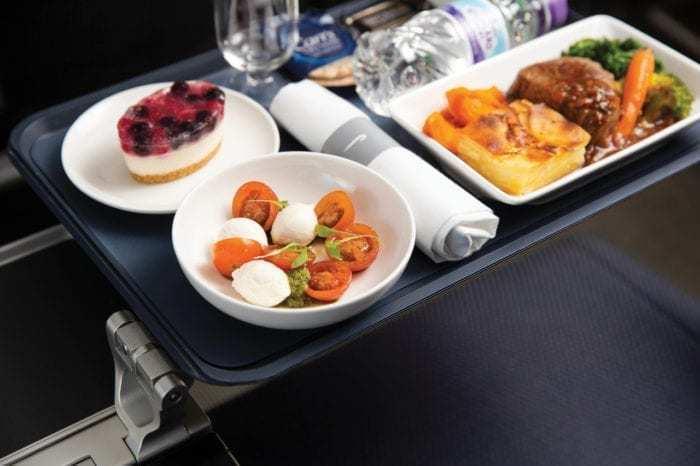 British Airways new World Traveller Plus food