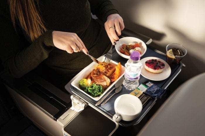 British Airways new World Traveller Plus menu