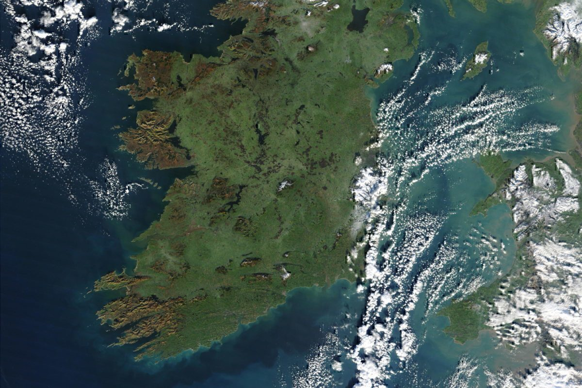 ireland from the air