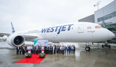 WestJet B787 Delivery