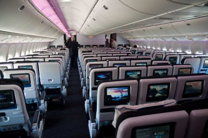 777 with 10 seats across