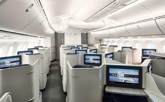 Air Canada Signature Class Cabin