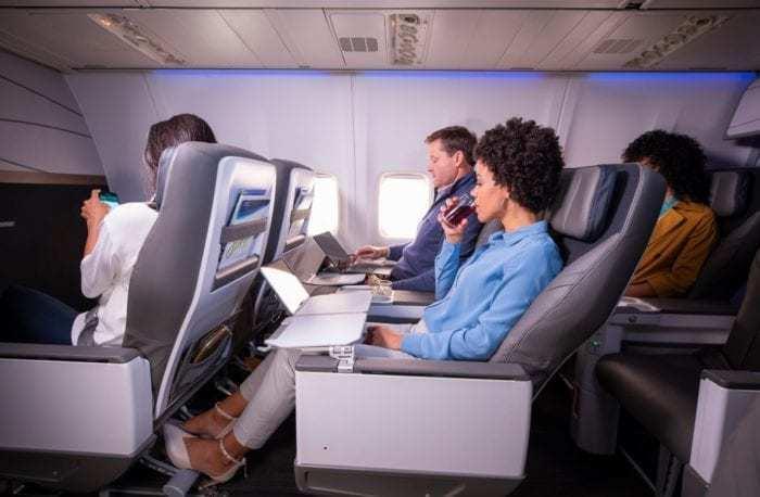 Alaska Airlines First Class Cabin