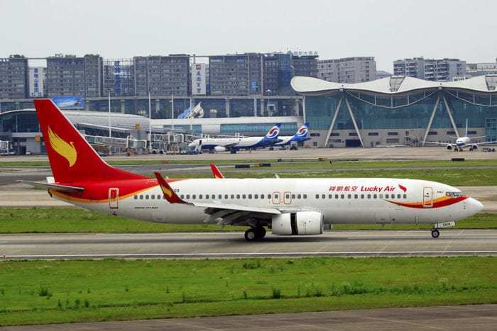 Lucky Air Boeing 737 Takeoff