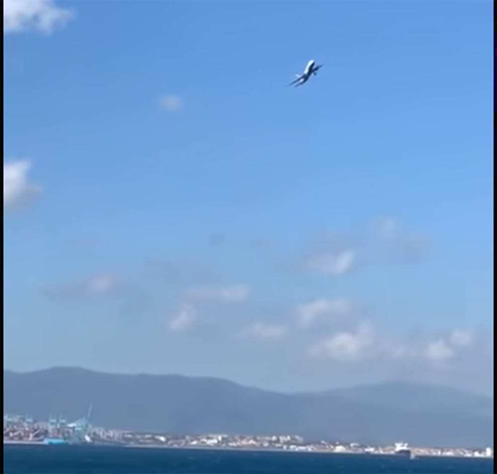 British Airways Wind Turbulence Gibraltar