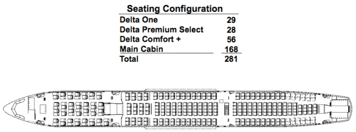 Delta Leaks A330-900neo Seat Map - Simple Flying on