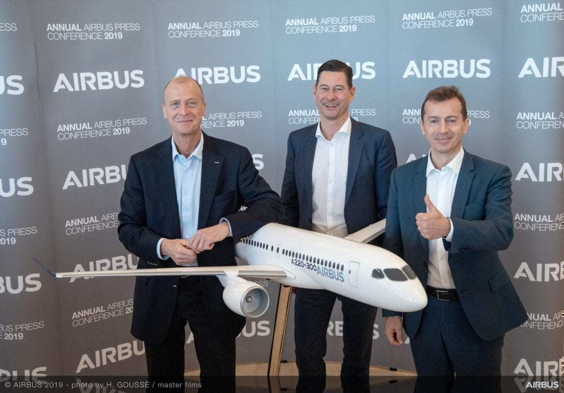 Airbus' executive team at press conference