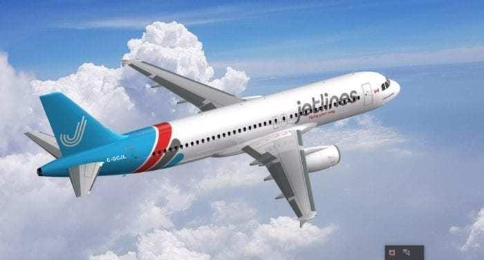 Jetlines Airbus A320 in flight