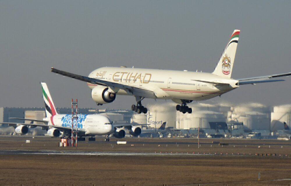 Emirates A380 Etihad 777 Frankfurt