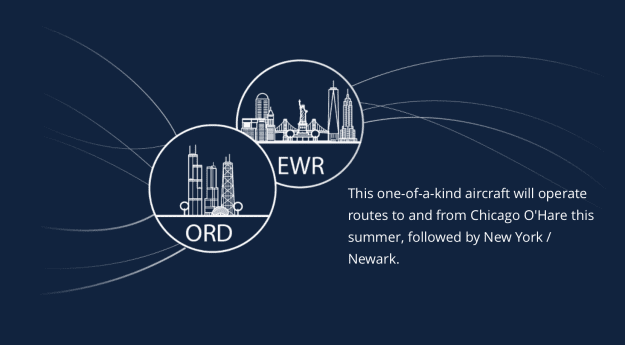 Routes for the CRJ550