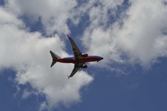 Southwest Airplane in flight