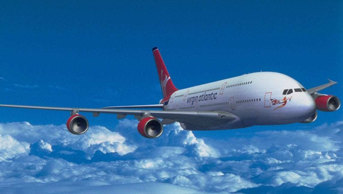 Rendering of a Virgin Atlantic A380