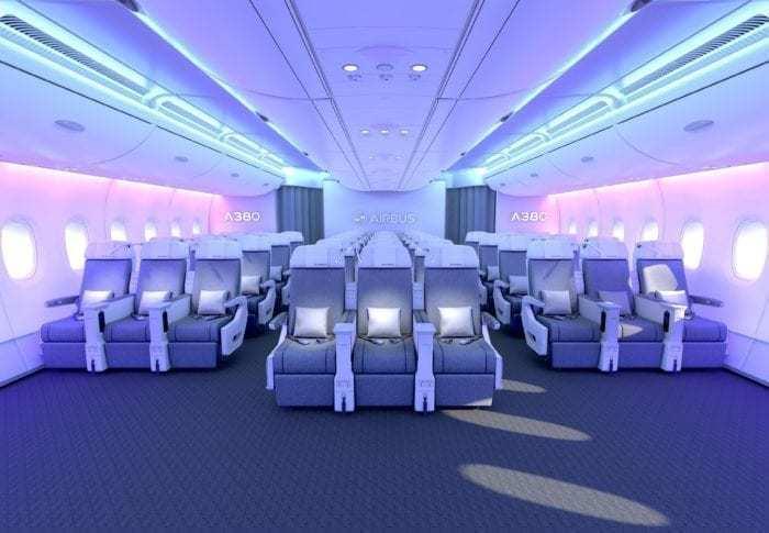 Inside an A380