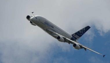 Airbus airplane in flight