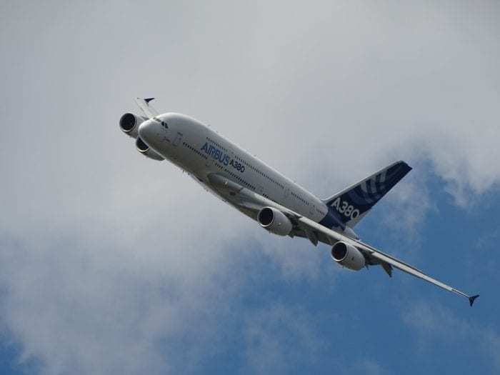 Airbus airplane in flight