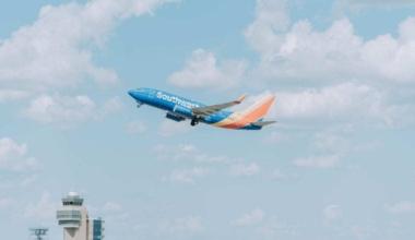 Southwest airplane takes flight