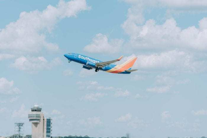 Southwest airplane takes flight