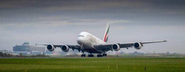 Emirates A380 Jumbo Jet