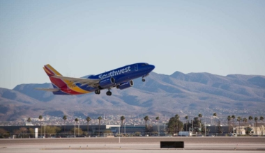 Southwest Airlines operations in Las Vegas.// Stephen M. Keller, 2019