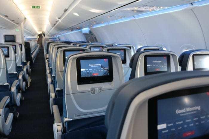 Delta A321 interior