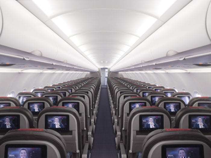 American Airlines aircraft interior
