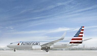 Amercan Airlines 737 aircraft side view