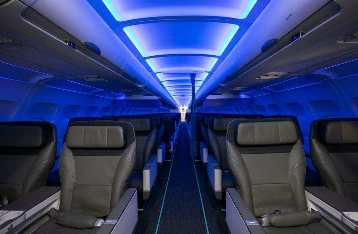 Alaska Airlines Mood Lighting