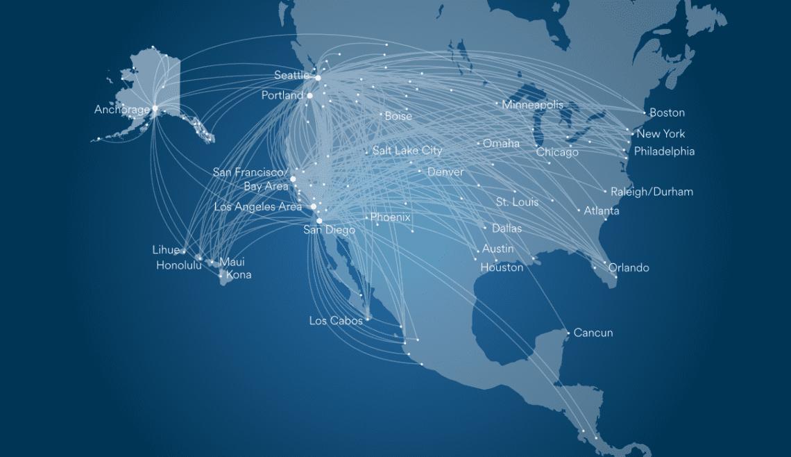 Alaska Airlines US routes