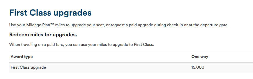 Alaska Airlines upgrades