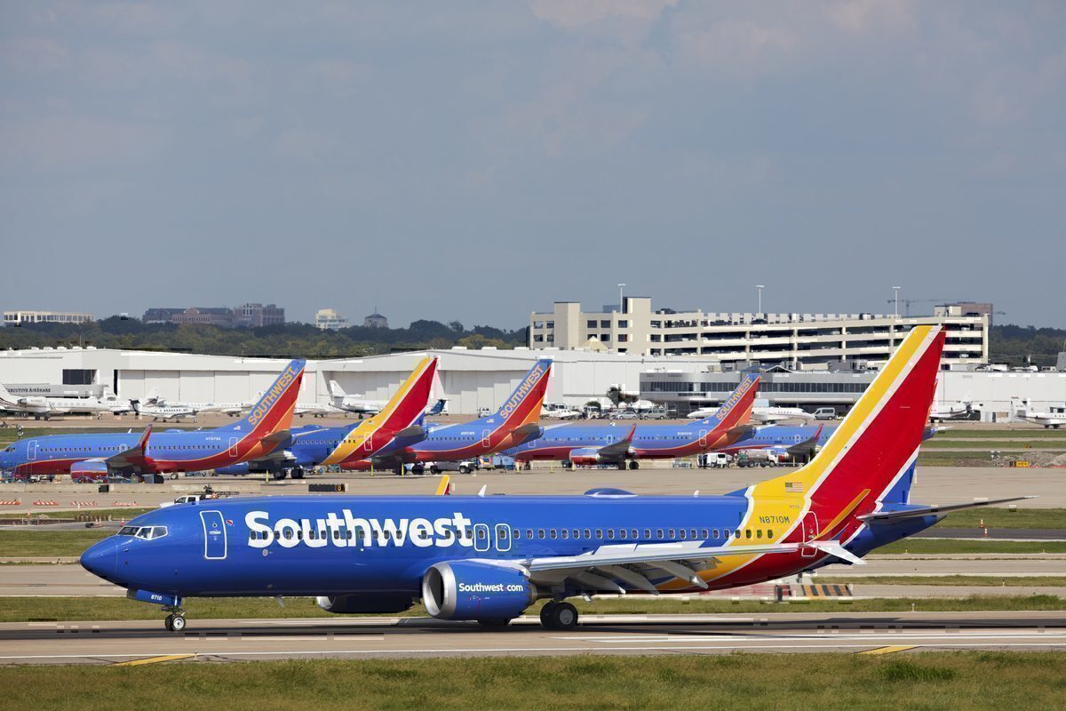 Southwest Airlines Is Now Parking Boeing 737 MAX Aircraft In The