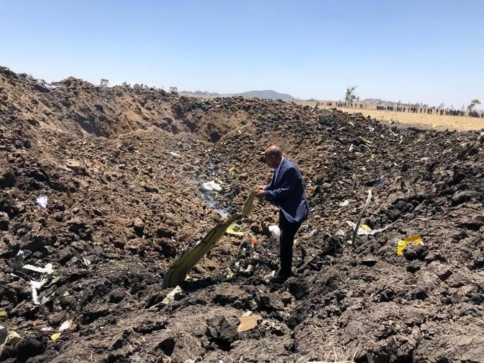 Ethiopian Airlines crash debris