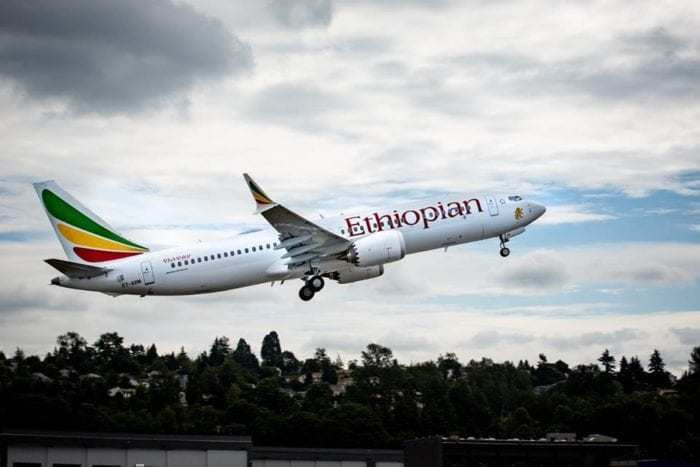 Ethiopian Airlines aircraft in flight