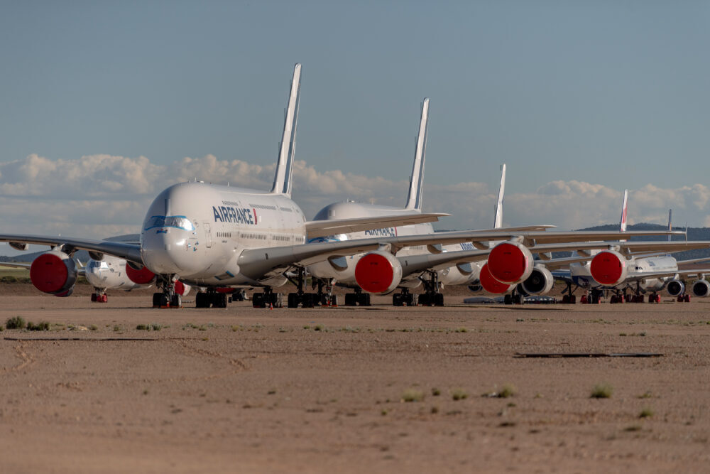 A380 air france parked