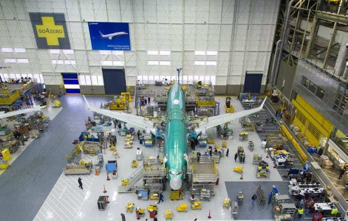 Boeing 737 MAX factory