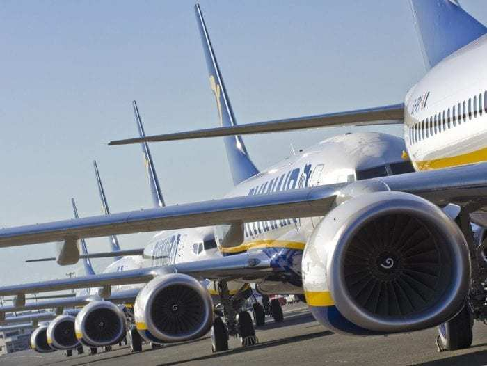 Line of Ryanair Aircraft