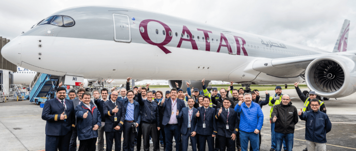 The A350-900 is the 250th aircraft for Qatar Airways.