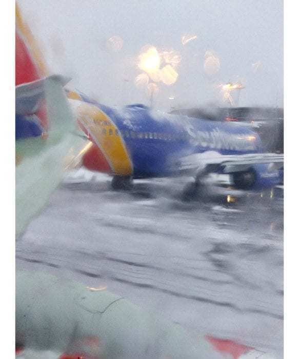 Southwest wing collision