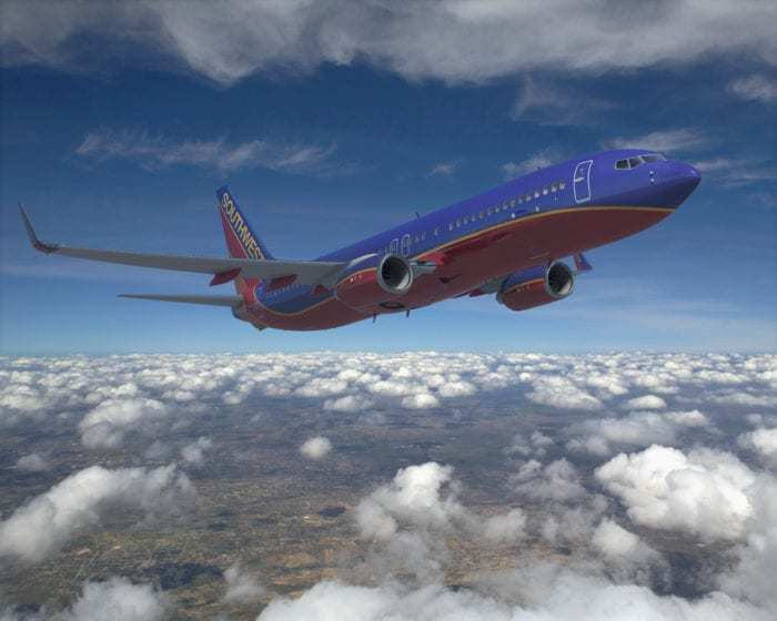 Boeing 737-800 in Southwest Livery
