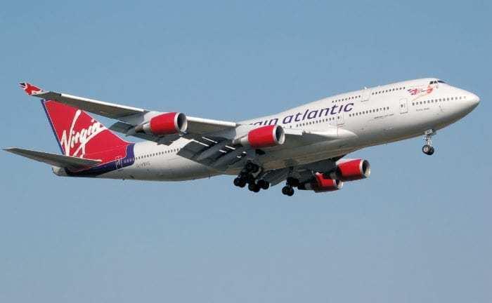 Virgin Atlantic 747 plane