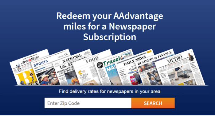 AA newspaper subscriptionsAA newspaper subscriptions