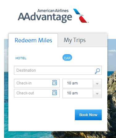 AA car and hotel redemption portal